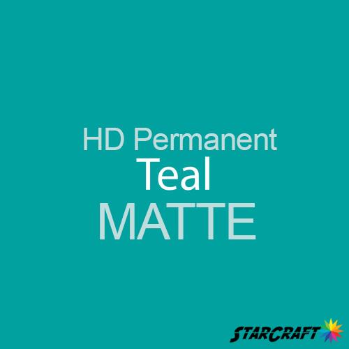 "StarCraft HD Permanent Adhesive Vinyl - MATTE - 12"" x 12"" Sheets - Teal"