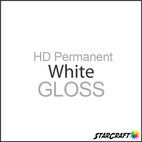 "StarCraft HD Permanent Adhesive Vinyl - GLOSS - 12"" x 12"" Sheets - White"