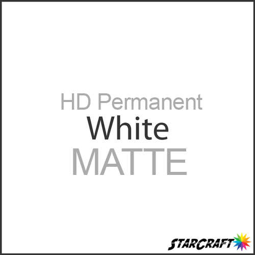 "StarCraft HD Permanent Adhesive Vinyl - MATTE - 12"" x 5 Foot - White"