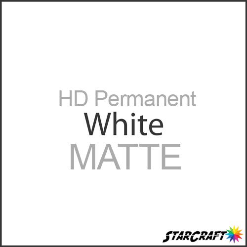 "StarCraft HD Permanent Adhesive Vinyl - MATTE - 12"" x 25 Yard - White"