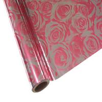 "25 Foot Roll of 12"" StarCraft Electra Foil - Pink Roses"