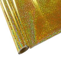 "25 Foot Roll of 12"" StarCraft Electra Foil - Holographic Gold Sequins"