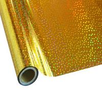 "25 Foot Roll of 12"" StarCraft Electra Foil - Holographic Gold Stars"