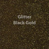 """1 Yard of 20"""" Siser GLITTER - Black Gold"""