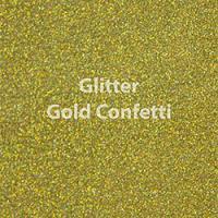"1 Yard of 20"" Siser GLITTER - Gold Confetti"