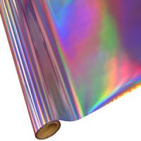 "25 Foot Roll of 12"" StarCraft Electra Foil - Purple Holographic Rainbow"