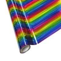 "25 Foot Roll of 12"" StarCraft Electra Foil - Rainbow Lines"