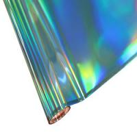 "25 Foot Roll of 12"" StarCraft Electra Foil - Blue Holographic Rainbow"