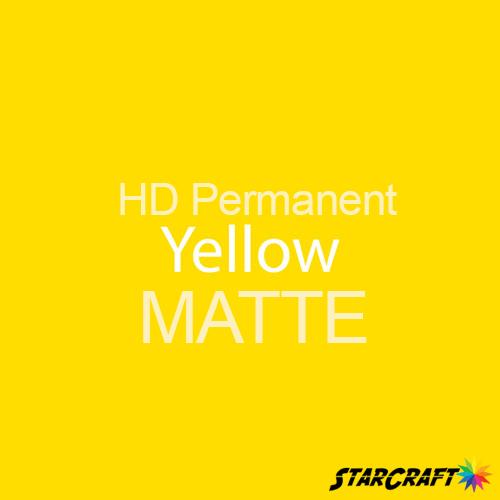 "StarCraft HD Permanent Adhesive Vinyl - MATTE - 12"" x 12"" Sheets - Yellow"